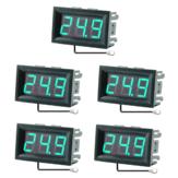 5 sztuk 0.56 Cal Mini cyfrowy LCD wewnętrzny wygodny czujnik temperatury miernik z monitorem termometr z kablem 1M -50-120 ℃ DC 5-12 V