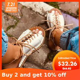Large Size Women Casual Peep Toe Strappy Espadrilles Flat Sandals