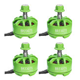 4X Racerstar 2307 BR2307S Green Edition 2200KV 2-5S Brushless Motor For X220 250 300 RC Drone FPV Racing