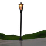 20Pcs / Set 1: 100 Skala Single Head Garden Park Street Light Modell Lamppost Lampe