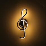 85-265 فولت 12 واط الجدار الحديث LED أضواء مصباح موسيقى ملحوظة شكل داخلي الشمعدان الشرفة غرفة نوم المعيشة
