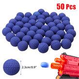 50 Pcs 2.3 cm PU Pelampung Putaran Bullet Balls Anak Mainan Bola untuk Berburu Taman