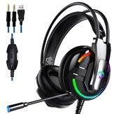 A18 E-sport fejhallgató 3,5 mm-es fülhallgató sztereó HiFi játék fejhallgató mikrofonnal PC-s mobiltelefonhoz