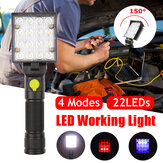 15W LED Magnetic Work Light 4 mode Foldable Rechargeable Car Garage Mechanic Flashlight Torch Lamp