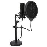 KBP MX28 Microphone cardioïde d'ordinateur USB Microphone à condensateur podcast