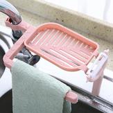 Two in one Water Faucet Asphalt Shelving Soap Box Sink Storage Rack Baskets Household Kitchen Sponge Wipes Asphalt Rack