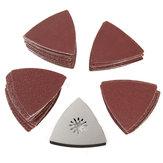 100pcs 80mm 60-240 Grit Sandpaper With Sanding Pad for Bosch Fein Oscillating Multitool