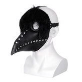 The Plague Doctor Mask Black Latex Gothic Steampunk Bird Beak