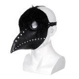 Die Pest Doktor Maske Schwarz Latex Gothic Steampunk Bird Beak