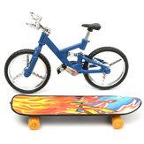 Tech deck dedo bicicleta e tábua dedo do menino miúdo roda crianças brinquedo dom