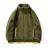 Jaqueta moda masculina outono / inverno YOINS gola casual jaqueta masculina de lã térmica