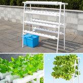 Kit de cultivo de 4 capas de 72 agujeros para el sitio de tubería hidropónica vertical Sistema de cultivo de vegetales para cultivo en aguas profundas DWC