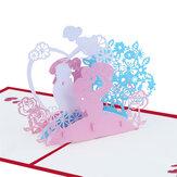 Creative 3D fête des mères cartes de voeux papier à la main anniversaire anniversaire Thanksgiving carte cadeaux pour mère maman