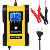 FOXSUR 7-Stages 12V 6A 24V 3A Bateria Carregador Touch Screen