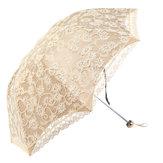 Damski parasol przeciwdeszczowy Kompaktowe koronki Trzy składane wodoodporne parasole przeciwsłoneczne z filtrem przeciwsłonecznym