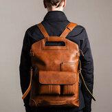 Bolsa masculina Ekphero casual multifunções mochila sólida crossbody Bolsa
