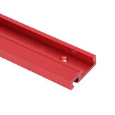 100-1220mm Red Aluminum Alloy 45 Type T-Track Woodworking T-slot Miter Track/Table Saw Router Miter Gauge