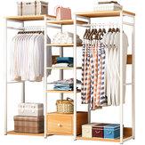 MSFE E19s armário de madeira armazenamento organizador roupas rack roupas cabide estante de prateleira seca