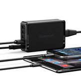 Tronsmart U5P 5-Port USB شاحن Quick USB شاحن 60W USB-C القوة Delivery Desktop شاحن for Samsung Galaxy S9 Plus