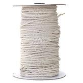 3/4/5/6 мм Натуральный белый плетеный Провод хлопок витой шнур Веревка DIY Ремесло Макраме Строка