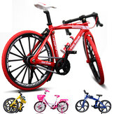 1:10 Diecast Bicycle Model Toys Bend Racing Cycle Cross Mountain Bike regalo Decor Collection