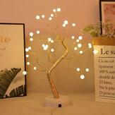 USB Dokunmatik Anahtarı LED Ağacı Gece Işık Inci Danışma Lamba Ev Yatak Odası Kapalı Düğün Parti Dekorasyon için
