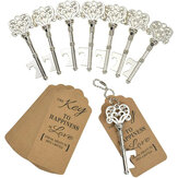 60 Pcs Heavy-Duty Metal Skeleton Key Bottle Opener Wedding Favor Decoration with Escort Tag Card
