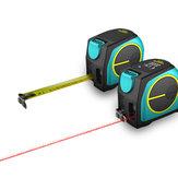 Milesey 2 w 1 Wyświetlacz LCD 40M 60M Cyfrowy dalmierz laserowy Laserowy miernik odległości Miernik taśmy od XIAOMI YOUPIN