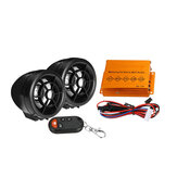 12V 15W 2.5 Inch Altavoz Impermeable Moto Audio antirrobo bluetooth FM SD USB MP3 Player