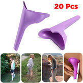 IPRee® 20 Pcs Portable Luar Ruangan Wanita Urinal Toilet Soft Silicone Travel Stand Up Pee Device Funnel