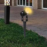 2PCS / 4PCS / 10PCS 5W COB LED Prato lampada Faretti da giardino impermeabili bianco caldo Luce da giardino AC / DC12V