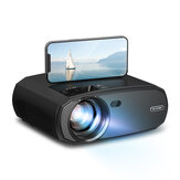 [5G WIFI] BlitzWolf®BW-VP13 1080P WIFI Projector Full HD 2.4G/5G WIFI Cast Screen Mirroring 6000 Lumens Bluetooth 5.0 Manual Focus Keystone Correction 180-Inch Projector for Outdoor Movie Home