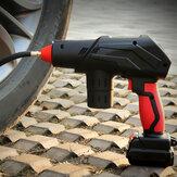 12V 10A 60L / min Compresseur d'air de pompe à air à affichage numérique portable Lithium rechargeable Batterie avec LED Gonfleur de pneu rapide léger haute pression sans fil pour voiture, moto, bicyclette, boule, anneau de natation