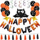 1 компл. Happy Halloween Украшения Bat Воздушный шар Партия Висячие Письмо Воздушный шарs Опора