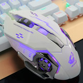 Free Wolf 4000DPI 6 Button LED Optical Gaming Mouse Mechanical Macro Programmierbar für PC Laptop