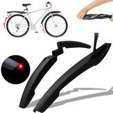 2 stuks Bike Fender Voor Achter Fiets Spatbord Fietsband Spatbord met verlichting Mountain Bike Spatborden