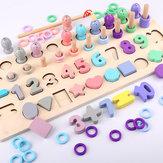 4 en 1 Forme numérique Journal de pêche Conseil de la petite enfance Éducation Développement intellectuel des enfants Jouet Bébé Puzzle Blocs Jouets