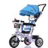 BIKIGHT Kids Tricycle Bike Children 3 Wheels With Shade Maluch Balance Protection Baby Cholley Mini Bike Safety