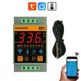ROCKSON Tuya inteligentne życie WIFI czujnik temperatury kocioł grzewczy fajny kontroler zdalny przełącznik termometr termostat alarm kontrola aplikacji