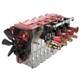 TOYAN FS-L400 14cc Inline 4 Cylinder Four-stroke Water-cooled Nitro Engine Model for 1/8 1/10 RC Car Ship