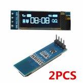 2 szt. Geekcreit 0,91 cala 128x32 IIC I2C Niebieski wyświetlacz LCD OLED DIY Moduł Oled SSD1306 Sterownik IC DC 3,3 V 5V