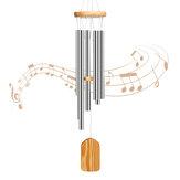 PATHONOR Wind Chimes Outdoor, with 6 Aluminum Tubes Wooden Wind Bell Memorial Wind Chimes, Best Gift Chimes Decor for Garden Patio Outdoor
