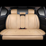 4PCS PU Leather Deluxe Car Cover Seat Protector Cushion Rear Cover Universal Kit