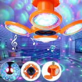 E27 RGB LED Garage Light Bulb Music bluetooth Four-Leaves Football Ceiling Fixture Workshop Lamp AC110-240V
