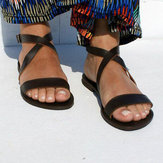 US Size 5-12 Roman Cross Beach Buckle Flat Sandals