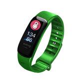 XANES® C1S 0.96 pulgadas IPS Pantalla a color IP67 Impermeable Reloj inteligente Corazón Frecuencia de oxígeno en sangre Monitor Aptitud Pulsera deportiva para ejercicio