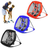 Foldable Golf Chipping Net Backyard Driving Aid Indoor Outdoor Hitting Practice Garden Living Room Beginners Training Cage