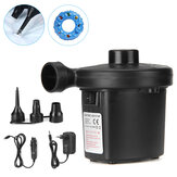 Electric Air Pump 3 Nozzle Inflator for Inflatable Cushions Air Mattress Bed Swimming Ring Boats