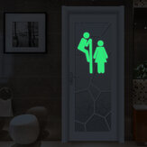 Miico Creative Man y Mujer Luminous CLORURO DE POLIVINILO Removable Home Cuarto de baño Decorativo Wall Door Etiqueta engomada de la decoración