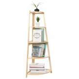 Simple Storage Rack Potted Flower Stand Creative Corner Bedroom Bookshelf for Home
